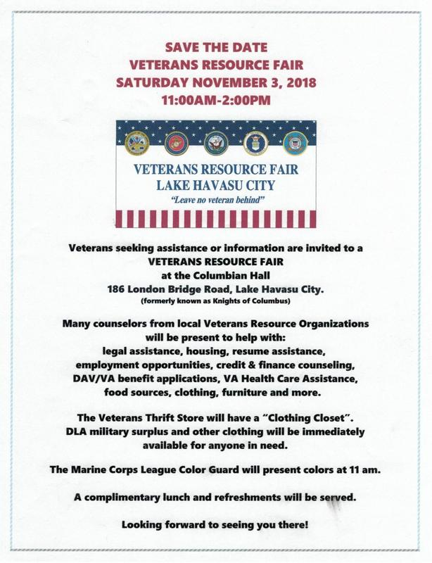 Chapter 27 Lake Havasu Disabled American Veterans Department Of